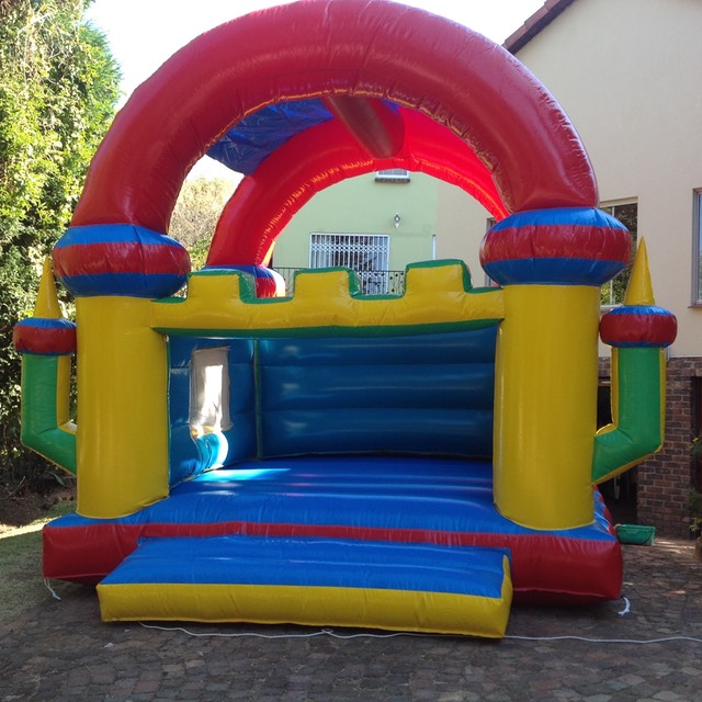 Castle Academy covered jumping castle inflatable